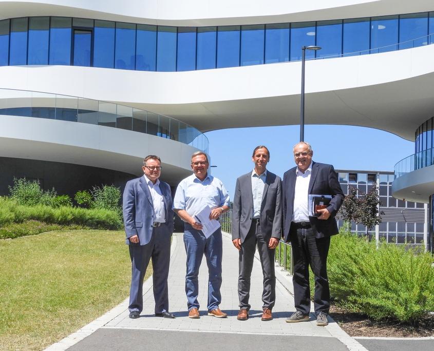 ALIA mit Lothar Höher, Prof. Dr. Erich Bauer und David Rester